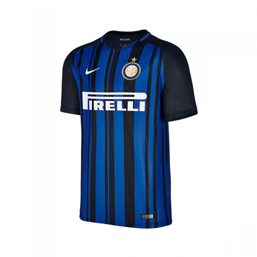 9b5553c09ac72 Jersey Nike Inter Milan Breathe Stadium 2017-2018 Home Black-Royal ...