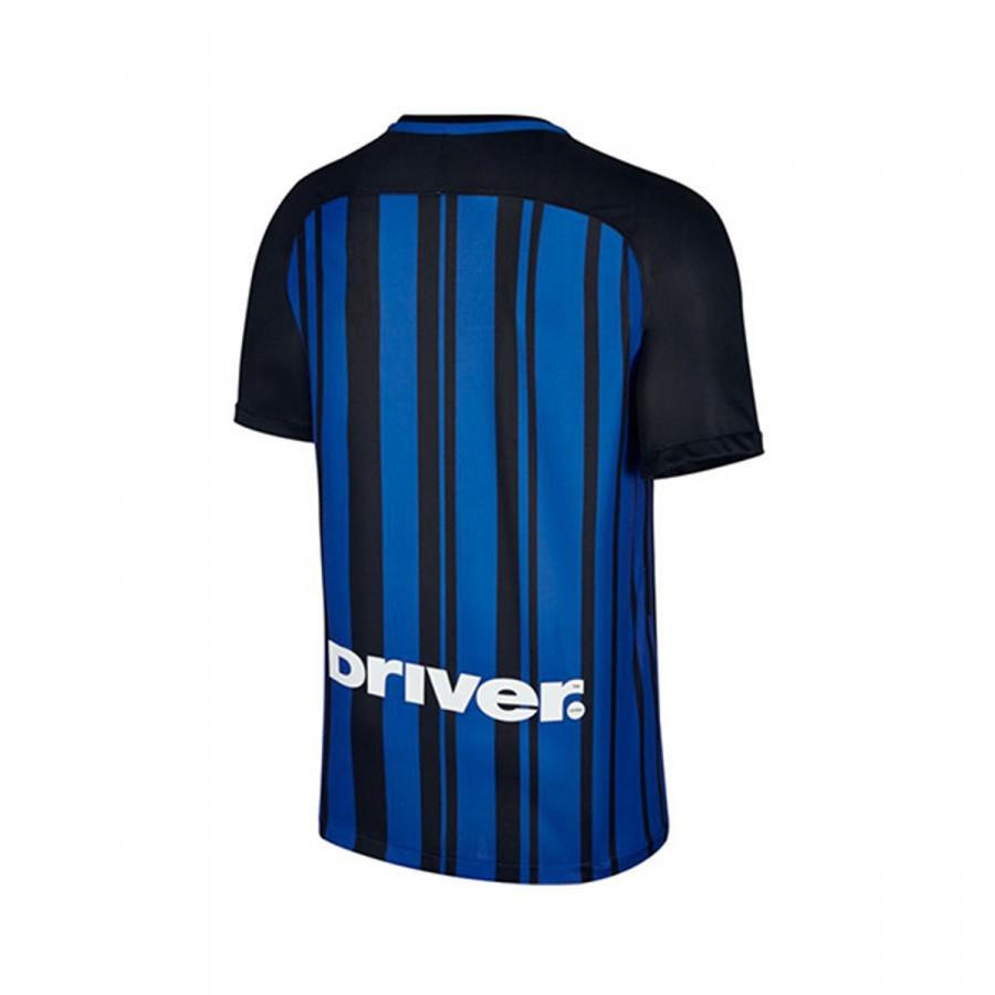 Camiseta Nike Inter Milan Breathe Stadium Primera Equipación 2017-2018  Black-Royal blue-White - Soloporteros es ahora Fútbol Emotion e88fd7788dc11