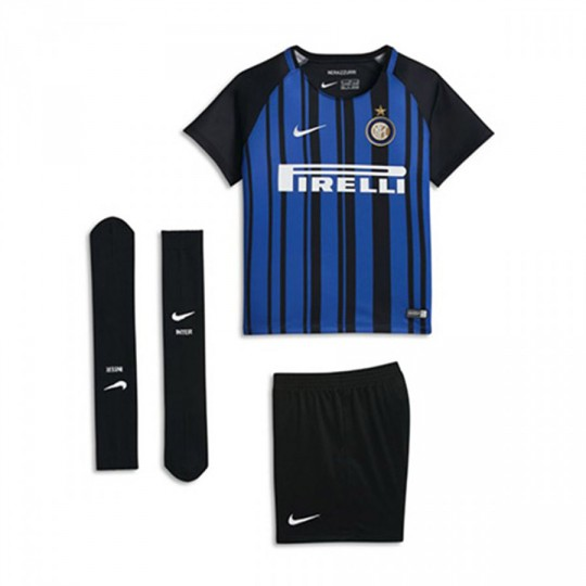 Conjunto  Nike Inter Milan Dry 2017-2018 Niño Black-Royal blue-White