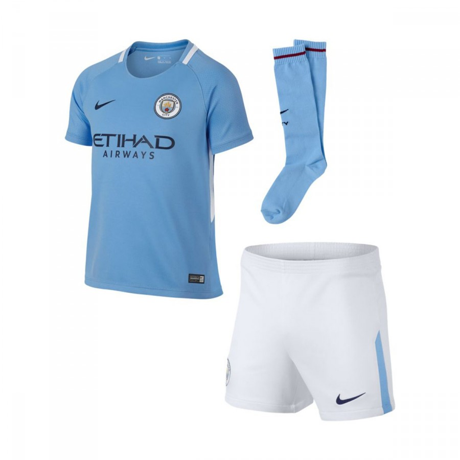 b78f2063a88 Kit Nike Kids Manchester City Dry 2017-2018 Field blue-Midnight navy ...