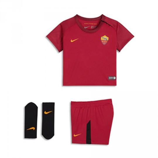 Conjunto  Nike AS Roma Primera Equipación 2017-2018 Niño Team crimson-University gold