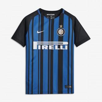 Camisola  Nike Inter Milan Breathe Stadium Equipamento Principal 2017-2018 Crianças Black-White