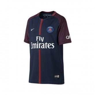 Camiseta  Nike Paris Saint-Germain Breathe Stadium Primera Equipación 2017-2018 Niño Midnight navy-White