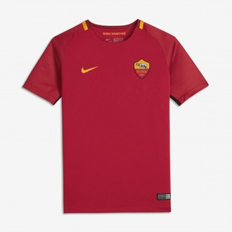 Camisola  Nike Jr AS Roma Breathe Stadium SS 2017-2018 Team crimson-University gold