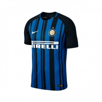 Camisola  Nike Inter Milan Vapor Match Primera Equipación 2017-2018 Black-Royal blue-White
