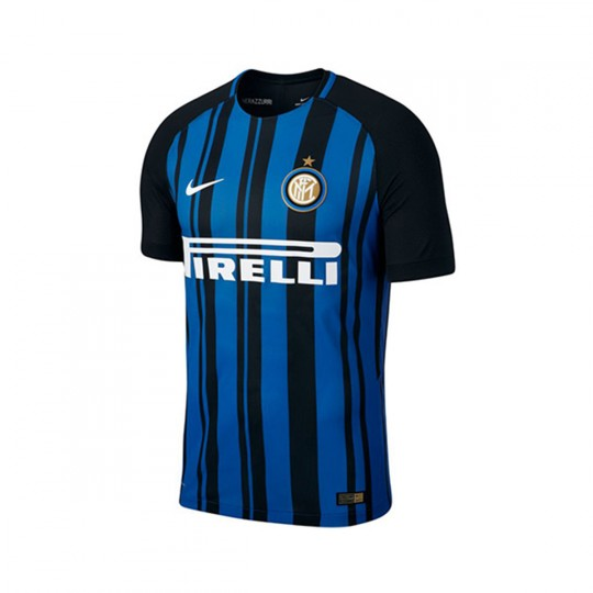 Camiseta  Nike Inter Milan Vapor Match SS 2017-2018 Black-Royal blue-White