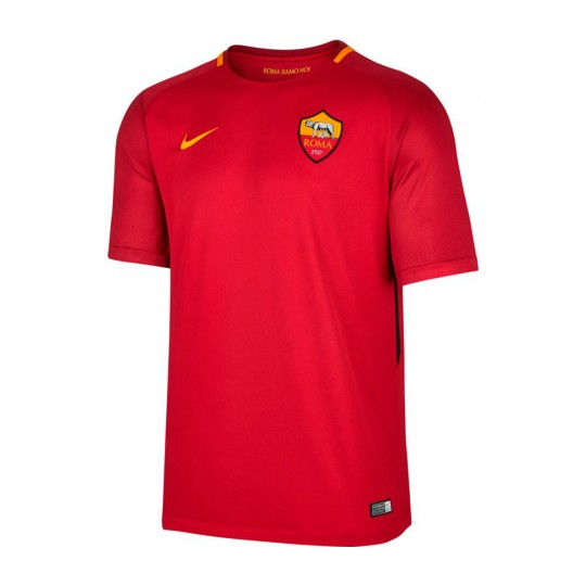 Camiseta  Nike AS Roma Vapor Match SS 2017-2018 Team crimson-University gold