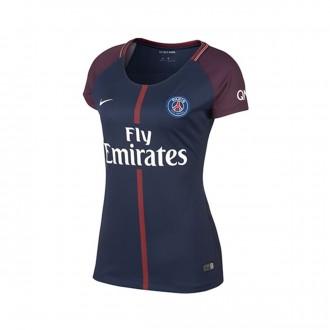 Camiseta  Nike Paris Saint-Germain Dry Stadium SS Mujer 2017-2018 Midnight navy-White