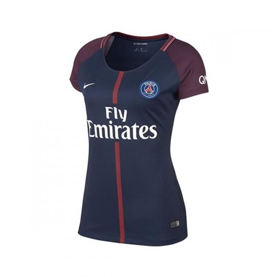 Camisola  Nike Paris Saint-Germain Dry Stadium SS Mujer 2017-2018 Midnight navy-White