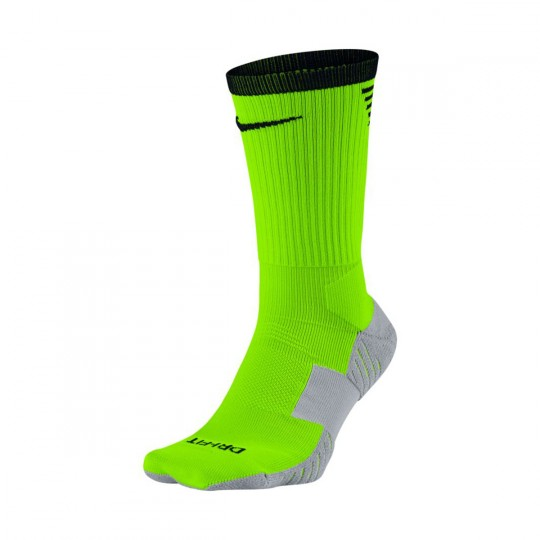 Meias  Nike Dry Squad Crew Football Electric Green-Wolf grey-Black