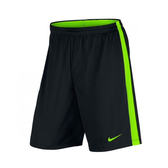Short  Nike Dry Academy Football Black-Electric green