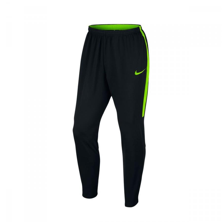 79b4f5770ccba Long pants Nike Dry Academy Football Black-Electric green - Tienda ...