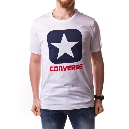 Camiseta  Converse Core Boxstar Tee White