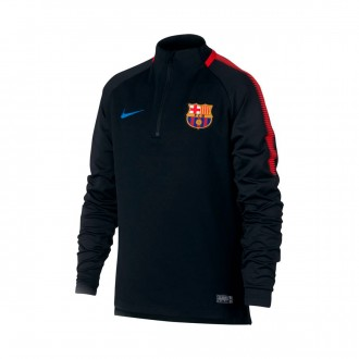 Sudadera  Nike FC Barcelona Dry Squad Top 2017-2018 Niño Black-University red-Soar