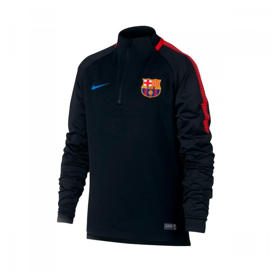 b61512546ef7c Sweatshirt Nike FC Barcelona Dry Squad Top Kids Black-University red ...