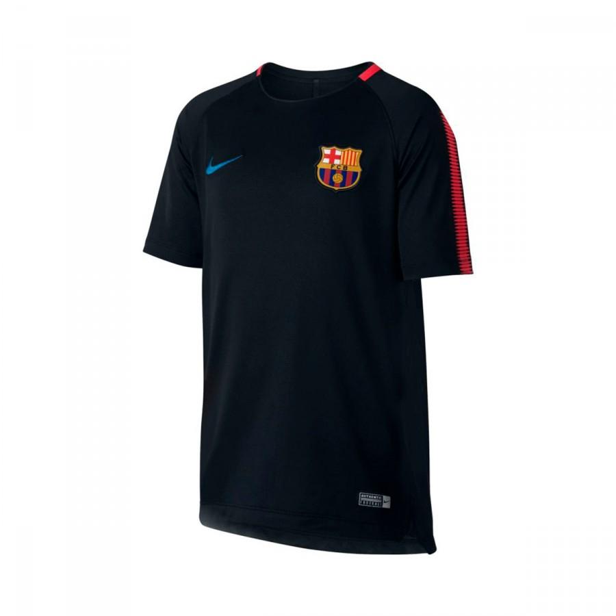 86d2deb8e46f Nike Kids Barcelona FC Dry Top SS Squad Jersey. Black-University red-Soar  ...