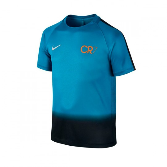 Camisola  Nike Jr CR7 Squad Football Industrial blue-Tart-Metallic silver