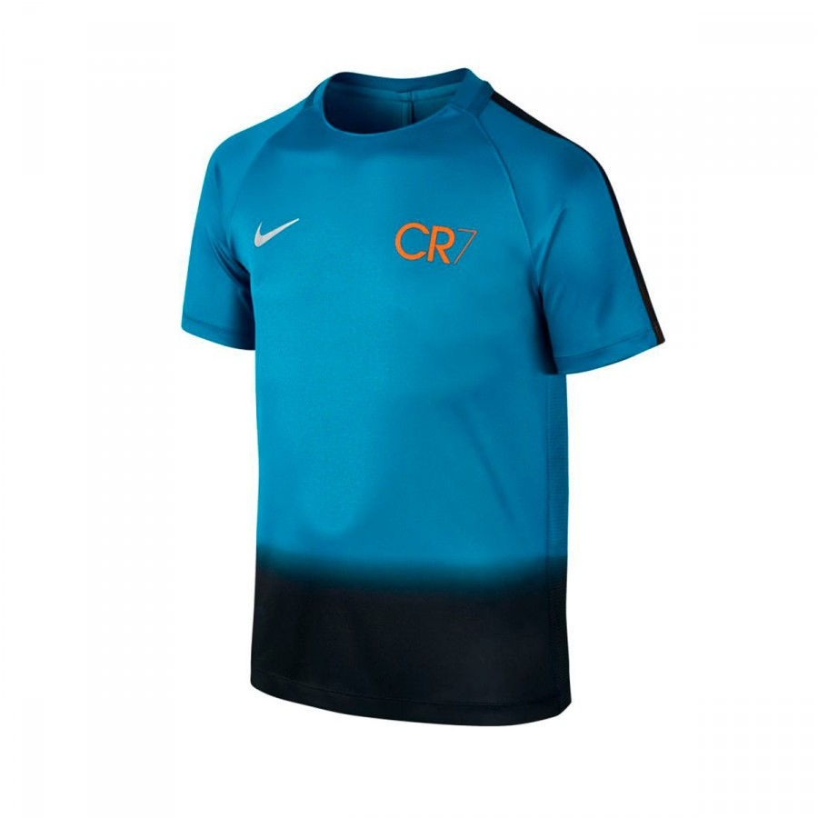 7dbaf9f43cd91 Playera Nike CR7 Squad Football Niño Industrial blue-Tart-Metallic silver -  Tienda de fútbol Fútbol Emotion