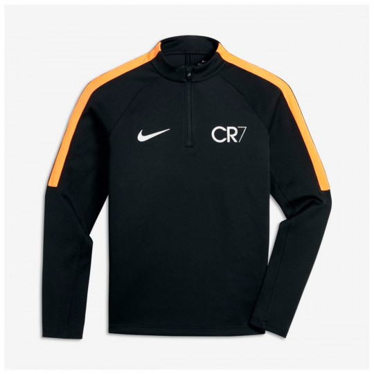 Camisola  Nike Jr CR7 Squad Dril Top Black-Tart-Metallic silver