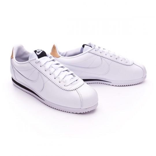Zapatilla  Nike Classic Cortez Leather SE White-Black-Vachetta tan