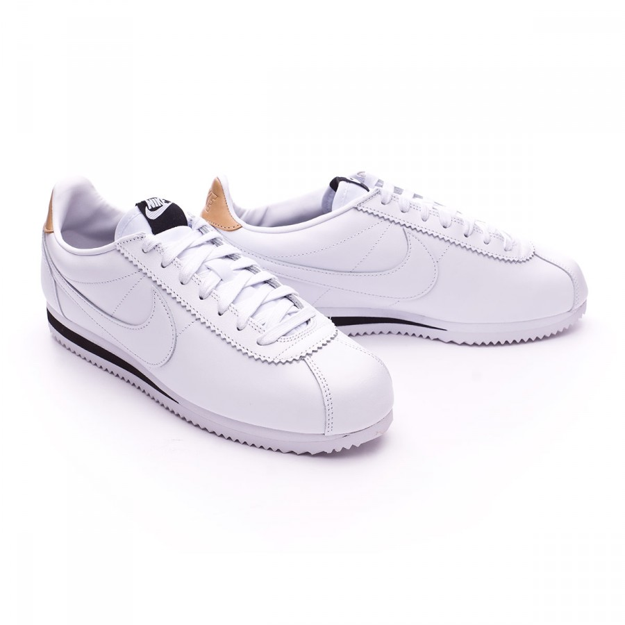 972eaa8506a8d Zapatilla Nike Classic Cortez Leather SE White-Black-Vachetta tan - Tienda  de fútbol Fútbol Emotion