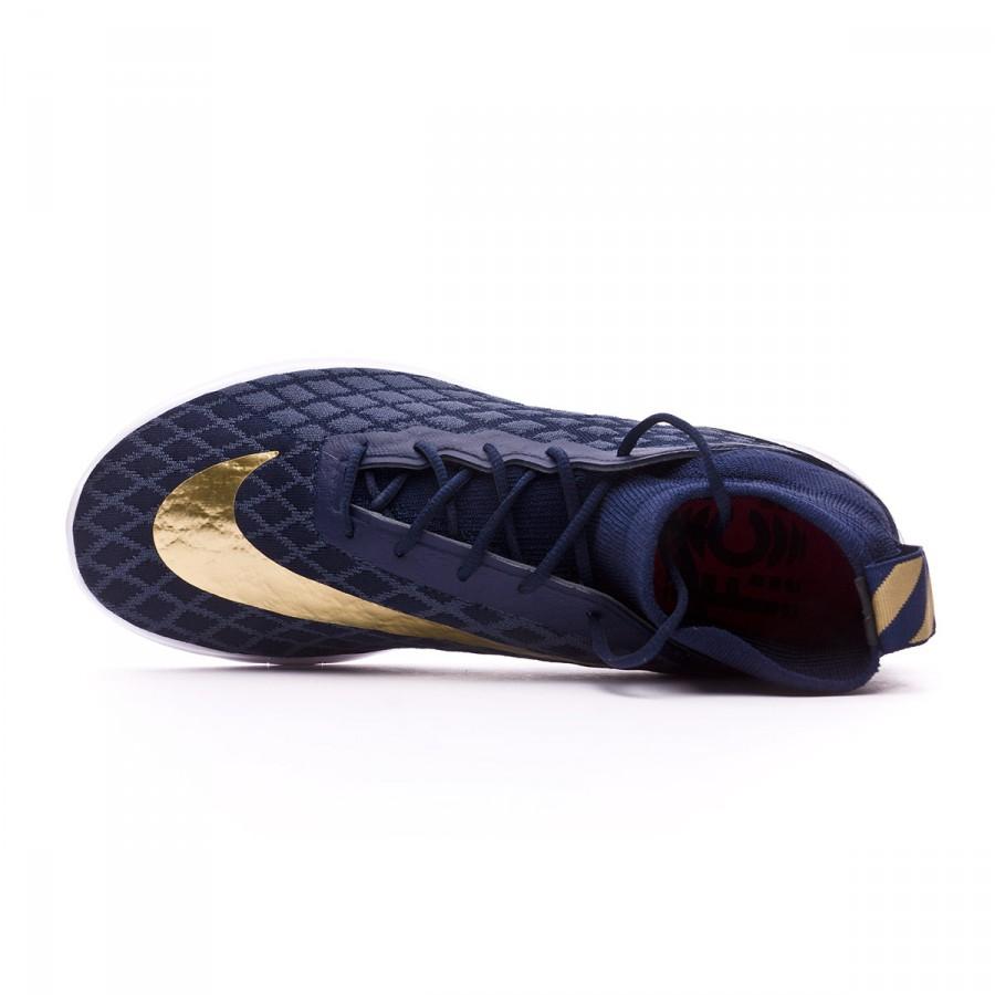 fc534a8fe589 Trainers Nike Free Hypervenom III FC FK College navy-Metallic gold-Blue fox  - Football store Fútbol Emotion