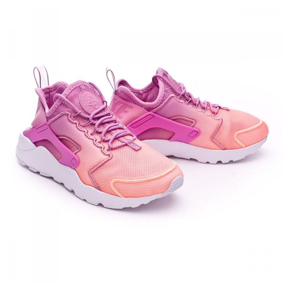 ebe7a61b74f10 Trainers Nike Air Huarache Run Ultra BR Mujer Orchid-Sunset glow ...