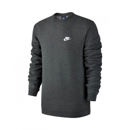 Sudadera  Nike Sportwear Crew Charcoal heather-White