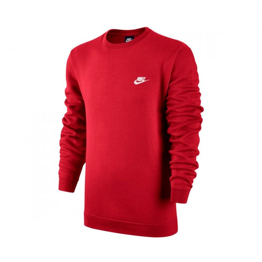 Sudadera  Nike Sportwear Crew University red-White