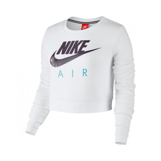 Sweatshirt  Nike Sportwear Modern Crew Mujer White-Still blue-Dark raisin