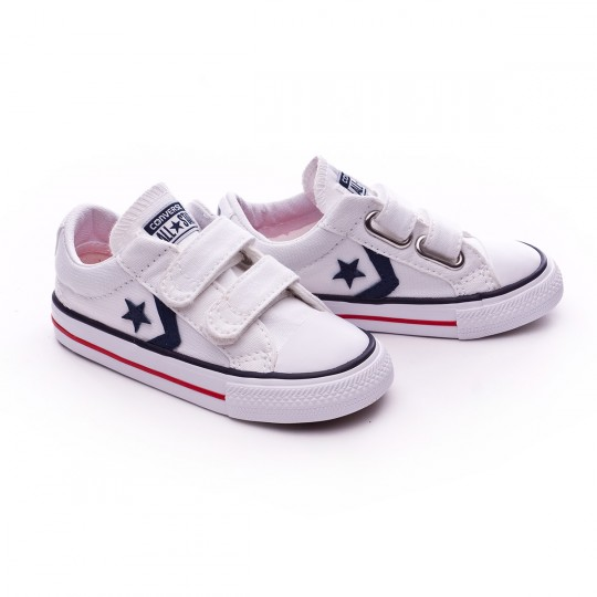 Zapatilla  Converse Bebe Star Player 3V OX White-Navy-Red