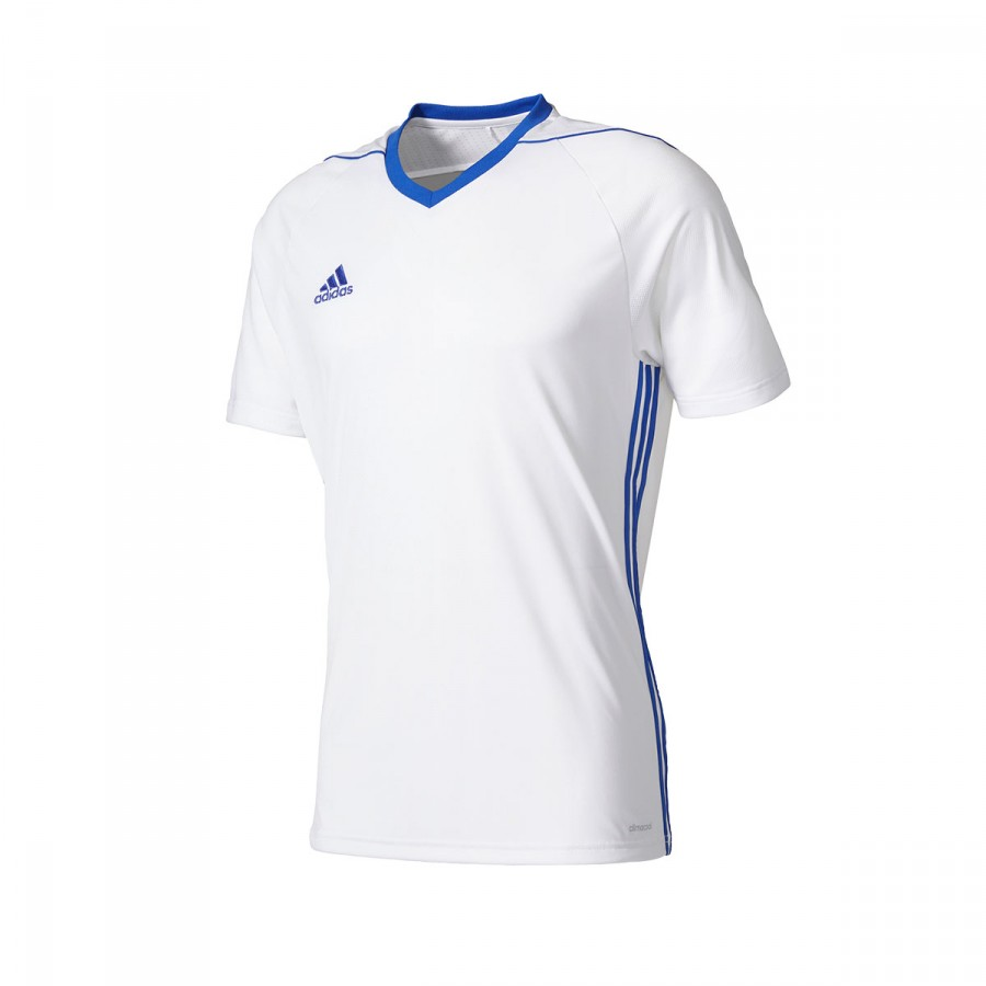 f5cc307d909ce Jersey adidas Tiro 17 m c White-Royal Blue - Soloporteros is now ...