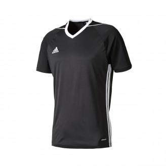 Playera adidas Tiro 17 m/c Negro-Blanco