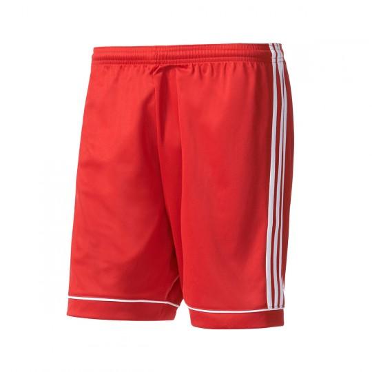 Pantalón corto  adidas Squadra 17 Rojo-Blanco