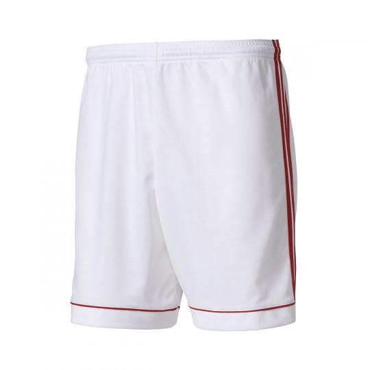 Pantalón corto  adidas Squadra 17 Blanco-Rojo