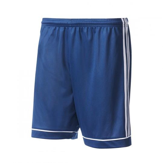 Pantalón corto  adidas Squadra 17 Azul marino-Blanco