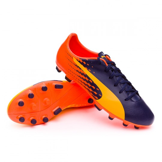 Bota  Puma evoSPEED 17.5 AG Ultra yellow-Peacoat-Orange clown fish