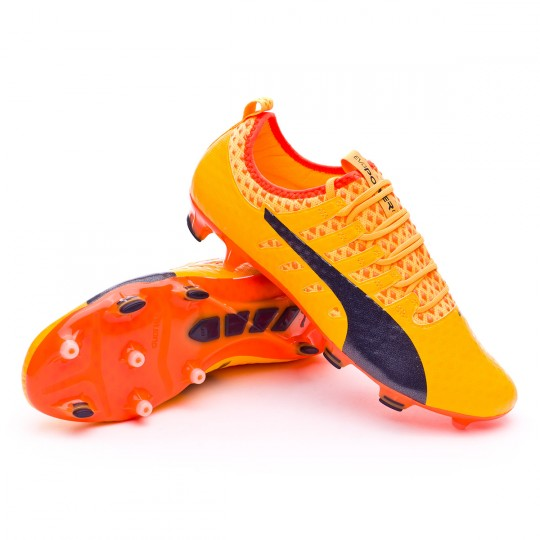 Scarpa  Puma evoPOWER Vigor 1 FG Ultra yellow-Peacoat-Orange clown fish