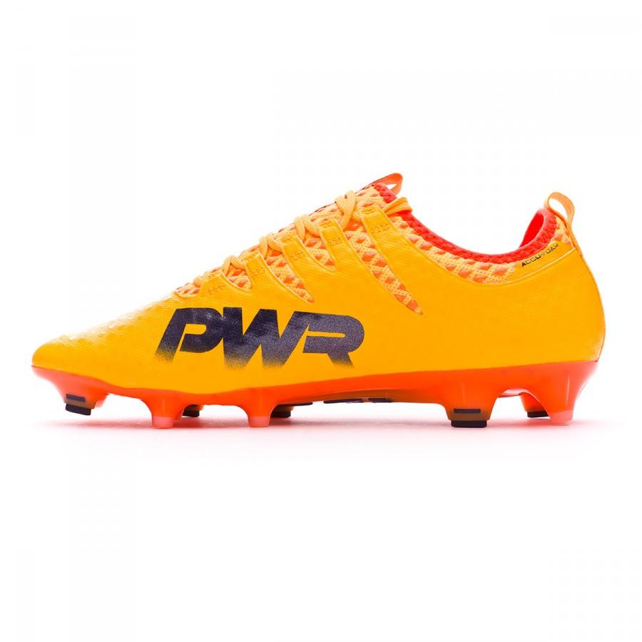 a0a075cd0f63 Football Boots Puma evoPOWER Vigor 1 FG Ultra yellow-Peacoat-Orange clown  fish - Football store Fútbol Emotion