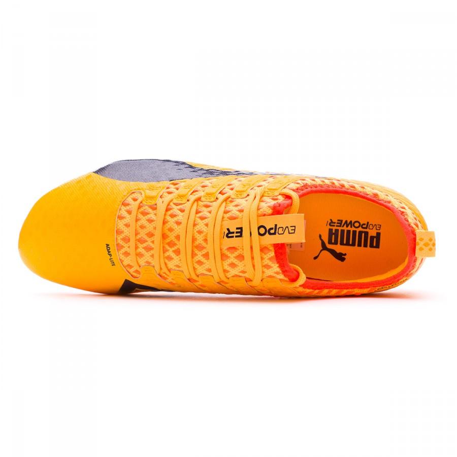 c2be1f80309e Football Boots Puma evoPOWER Vigor 1 FG Ultra yellow-Peacoat-Orange clown  fish - Football store Fútbol Emotion