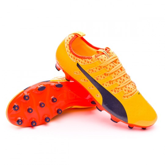 Bota  Puma evoPOWER Vigor 2 AG Ultra yellow-Peacoat-Orange clown fish