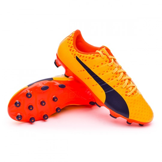Scarpa  Puma evoPOWER Vigor 3 AG Ultra yellow-Peacoat-Orange clown fish