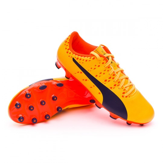Bota  Puma evoPOWER Vigor 4 AG Ultra yellow-Peacoat-Orange clown fish