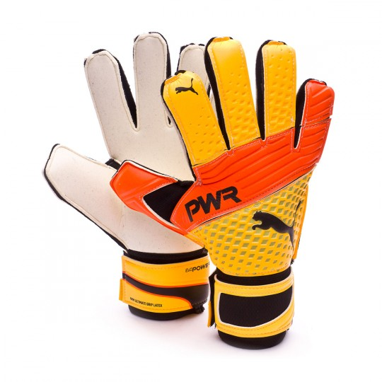 Guanti  Puma evoPOWER Grip 2.3 RC Ultra yellow-Peacoat-Orange clown fish