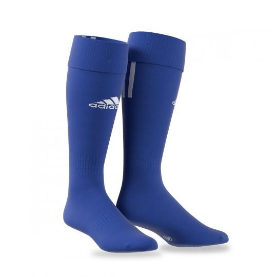 Medias  adidas Santos 3 Stripe Azul royal-Blanco