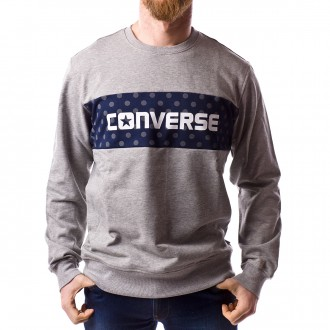 Sweatshirt  Converse Dots Pattern Crew Grey