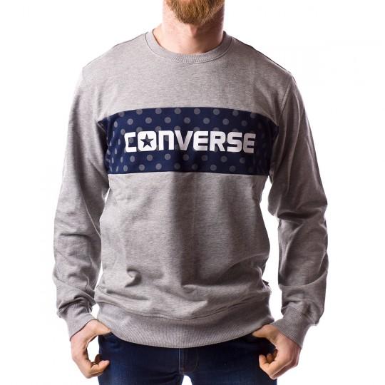Sudadera  Converse Dots Pattern Crew Grey