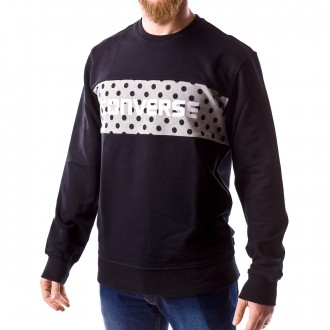Sweatshirt  Converse Dots Pattern Crew Black