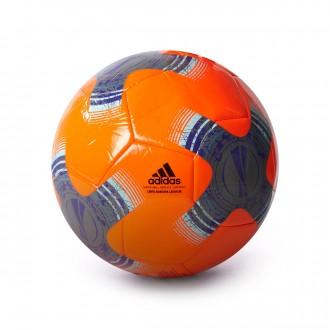 Bola de Futebol  adidas UEL Capitano Solar orange-Iron metallic-Black-Energy ink