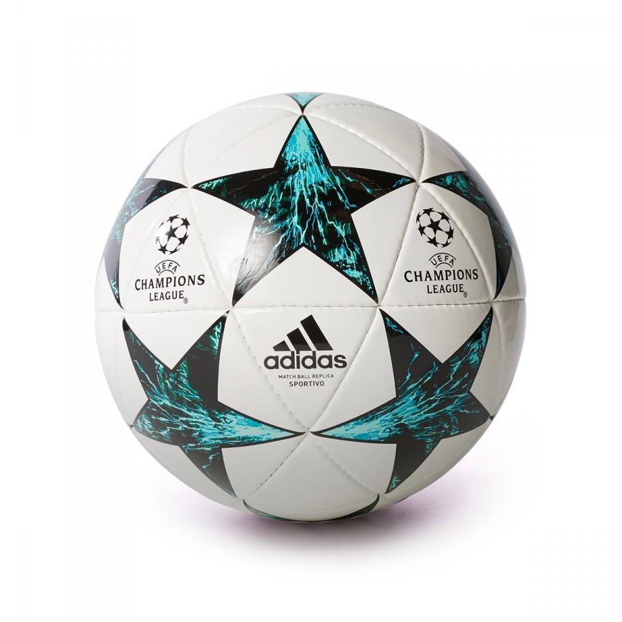 7aec2f0ad3603 Ball adidas Finale 17 Sport White-Core black-Dark green-Energy blue ...